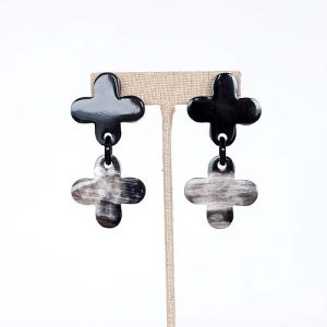 Double Clover Dangle Earrings