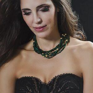 Emerald green aventurine necklace