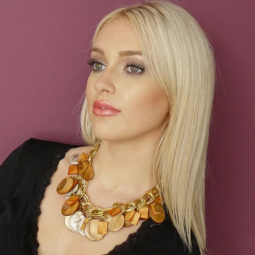 statement large beads necklace