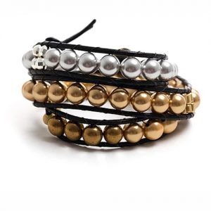 Leather & Pearl Bracelet