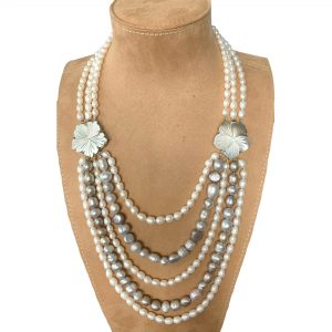 Chanel Style Multi-Strand Pearls