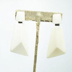 White long earrings