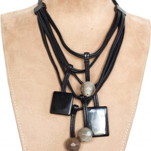 Geometric Dangle Necklace