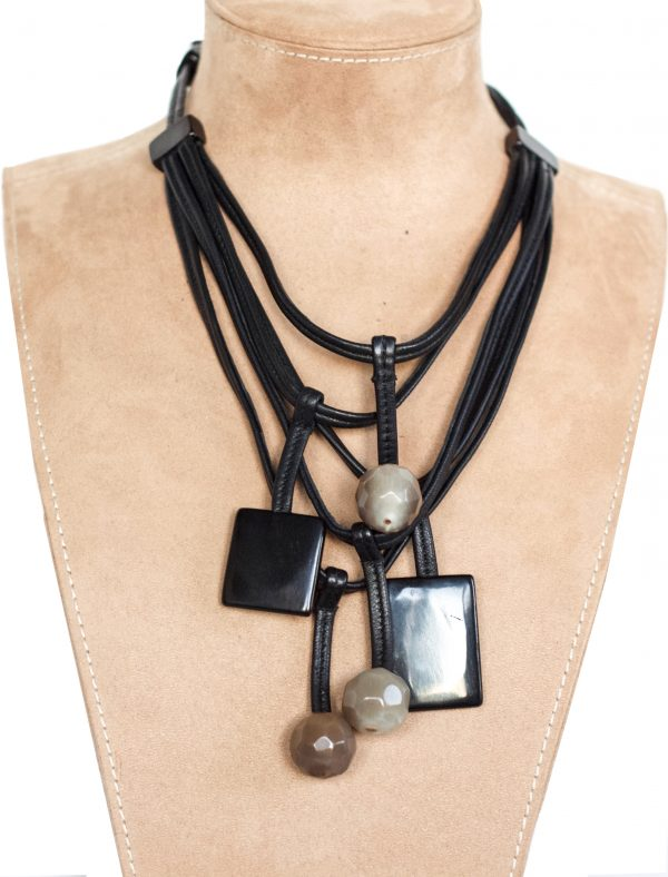 Geometric Dangle Necklace