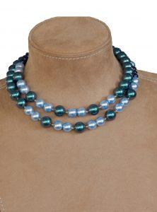 Iridescent Tahitian Look Pearl Necklace