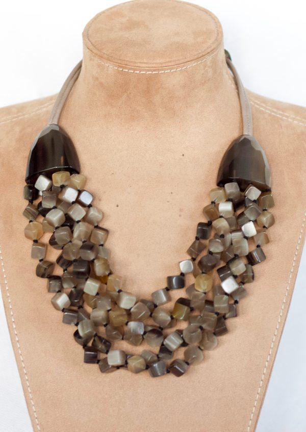 multistrand chunky necklace