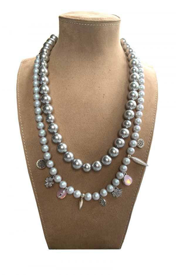 dangle pearl necklace