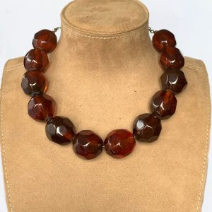 large red beaded necklace