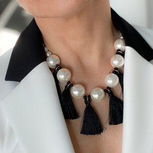tassel bib statement necklace